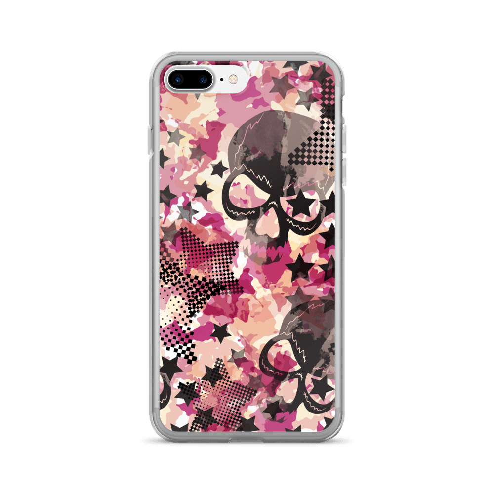 Camouflage Skulls And Stars iPhone Case The Skullection iPhone 7 Plus/8 Plus