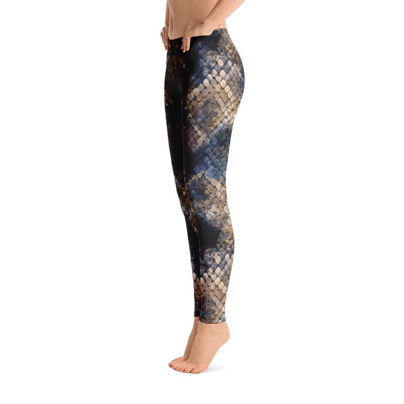 Cobra Snake Skin Leggings The Skullection