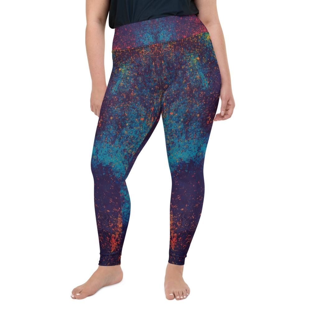 Colorful Grunge Spots Plus Size Leggings The Skullection 2XL