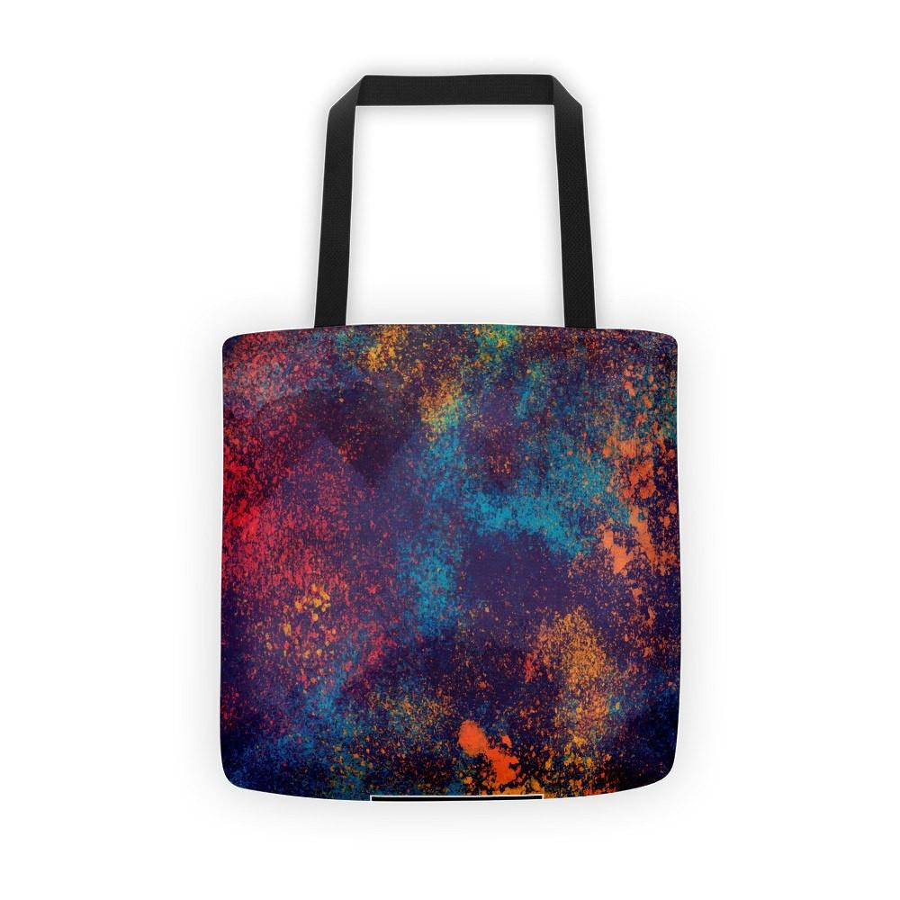 Colorful Grunge Spots Tote Bag The Skullection