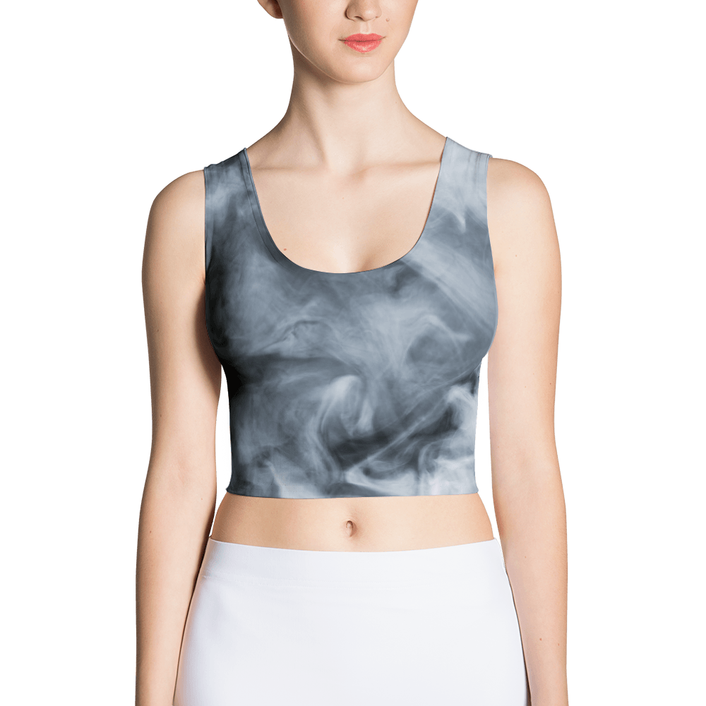 Dark Smoke Clouds Crop Top The Skullection XS