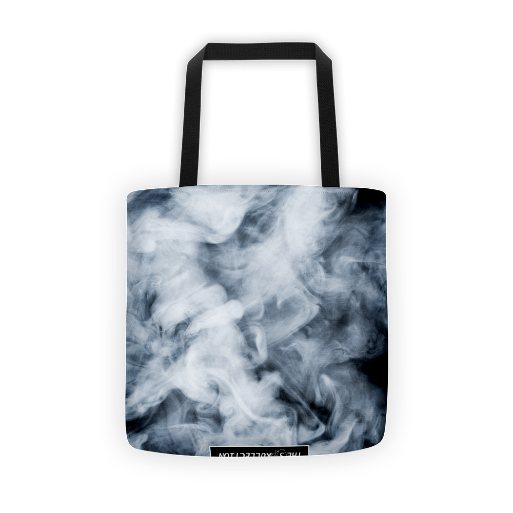 Dark Smoke Clouds Tote Bag The Skullection