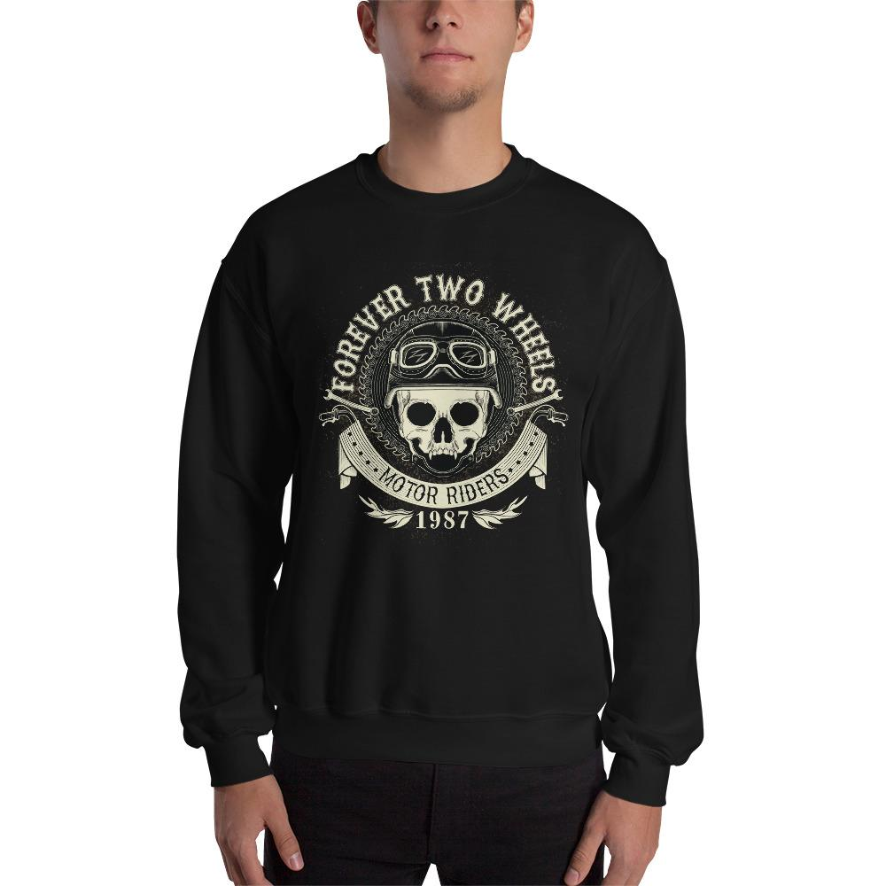 Forever Two Wheels 1987 Sweatshirt The Skullection Black S