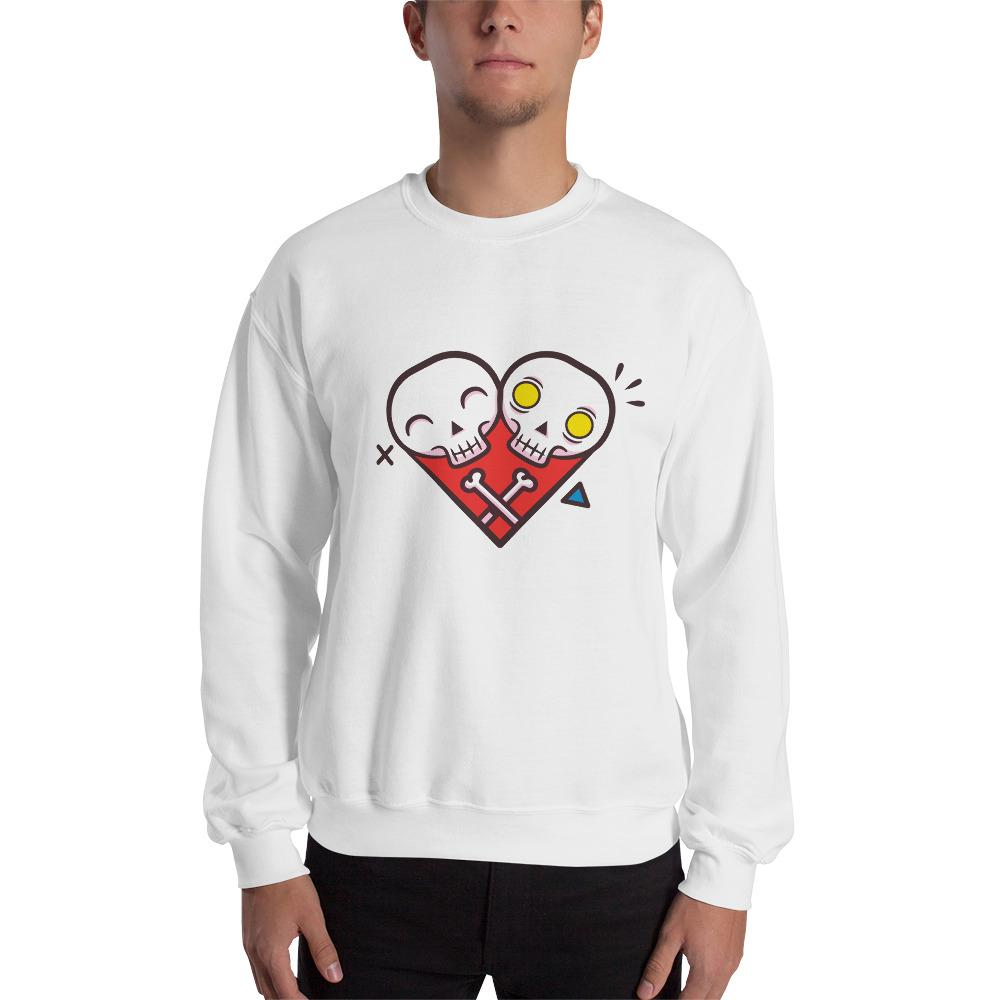 Funny Skeleton Illustration Sweatshirt The Skullection White S