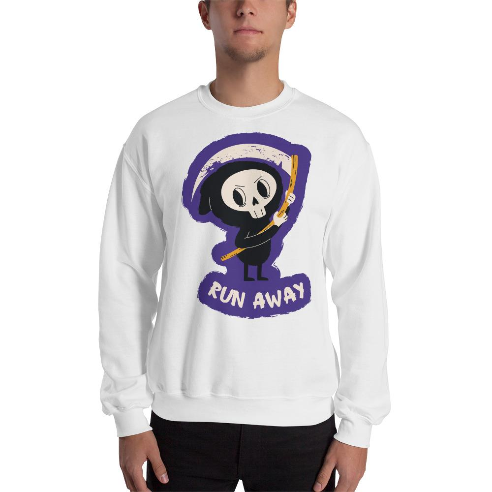 Funny Skeleton Print 4 Sweatshirt The Skullection White S