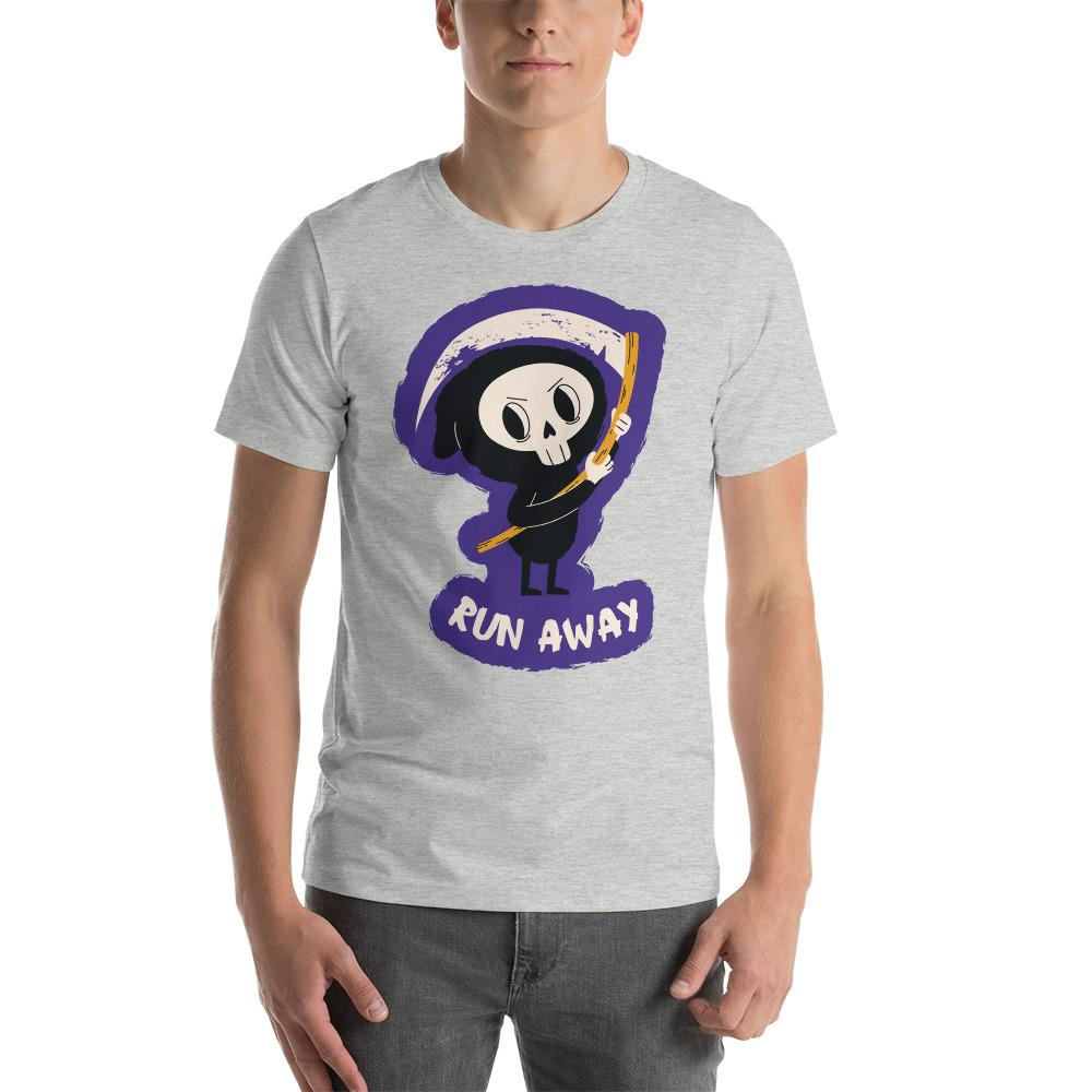 Funny Skeleton Print 4 T-Shirt The Skullection Athletic Heather S