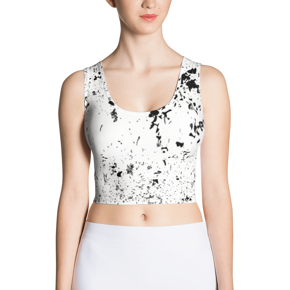 Grunge Texture Crop Top The Skullection XS