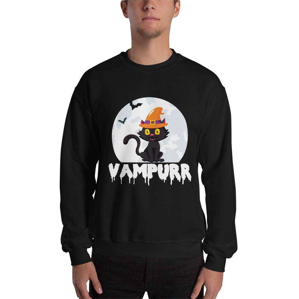 Halloween Graphic Sweatshirt The Skullection Black S