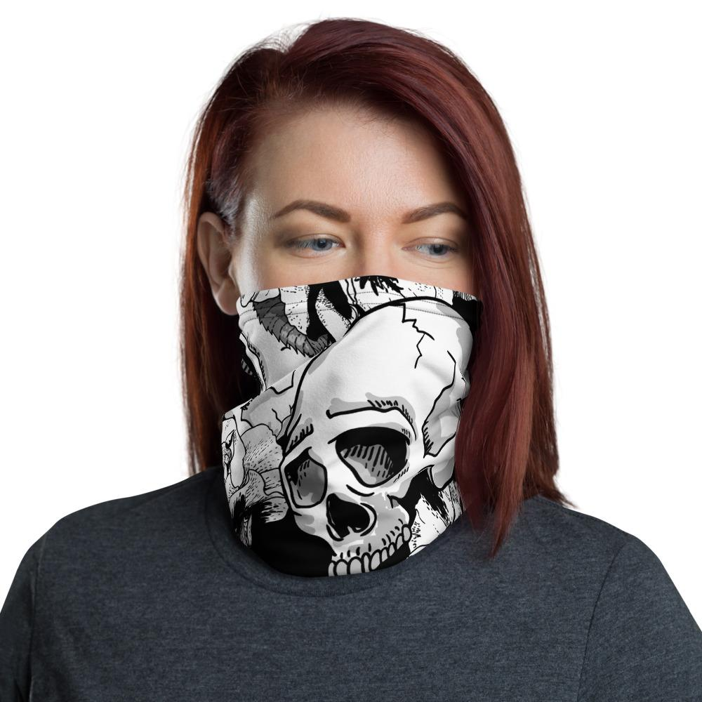 Black White Skulls Day Of The Dead Neck Gaiter The Skullection