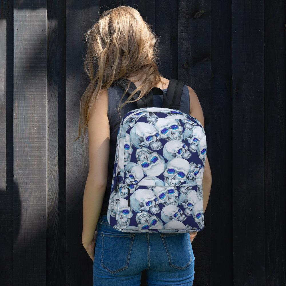 Watercolor Mystic Skulls Backpack The Skullection