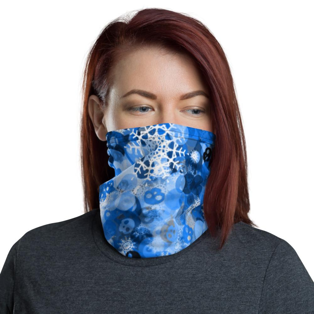 Snowflake And Skulls Neck Gaiter The Skullection