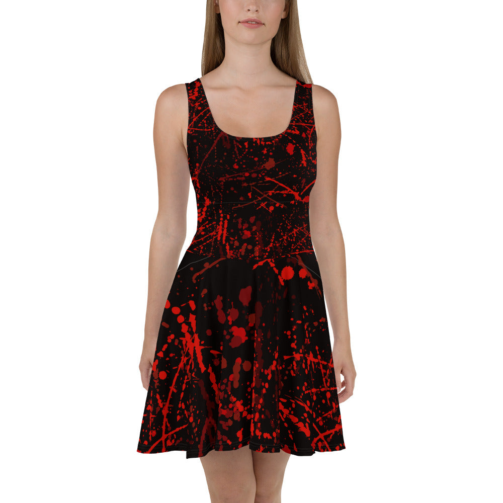 Blood Stains Halloween Skater Dress