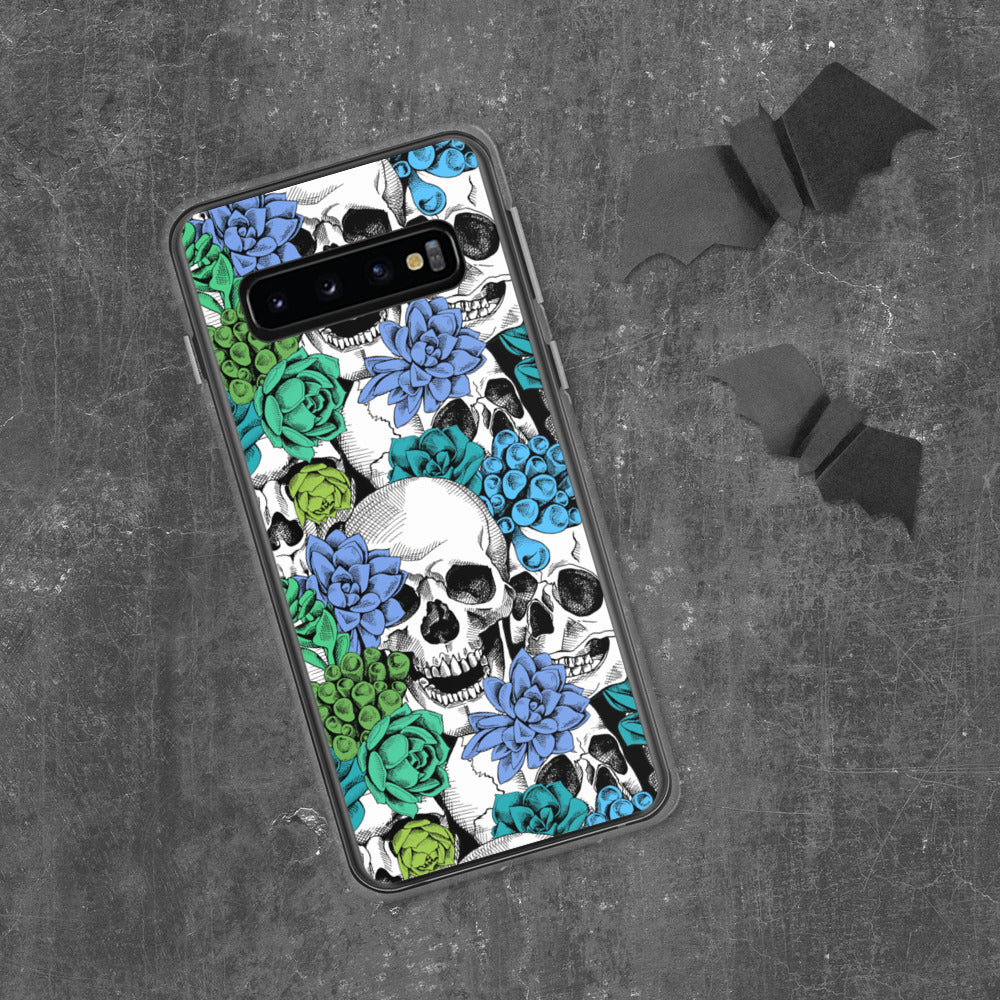 Skull And Succulent Plant Samsung Case