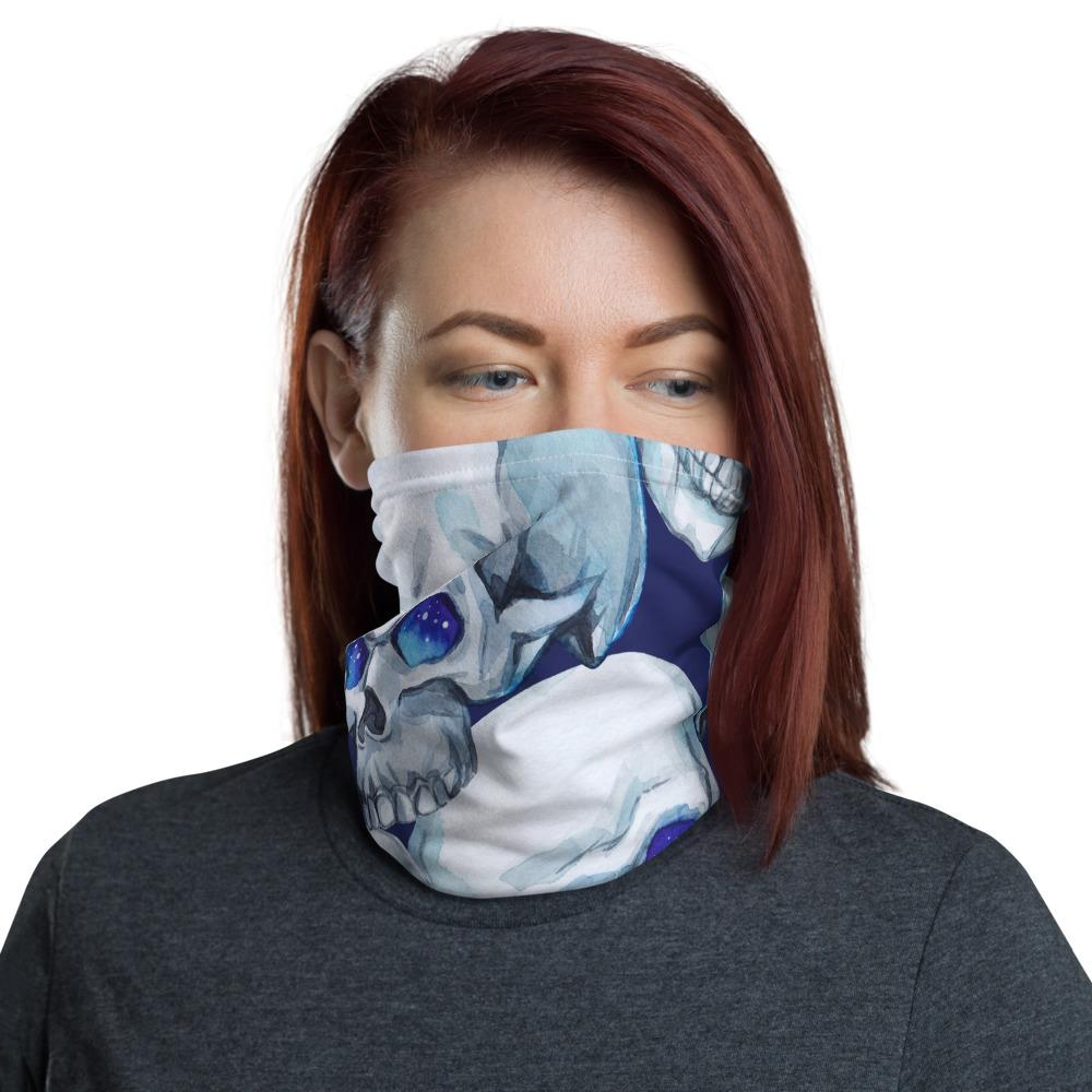 Watercolor Mystic Skulls Neck Gaiter The Skullection