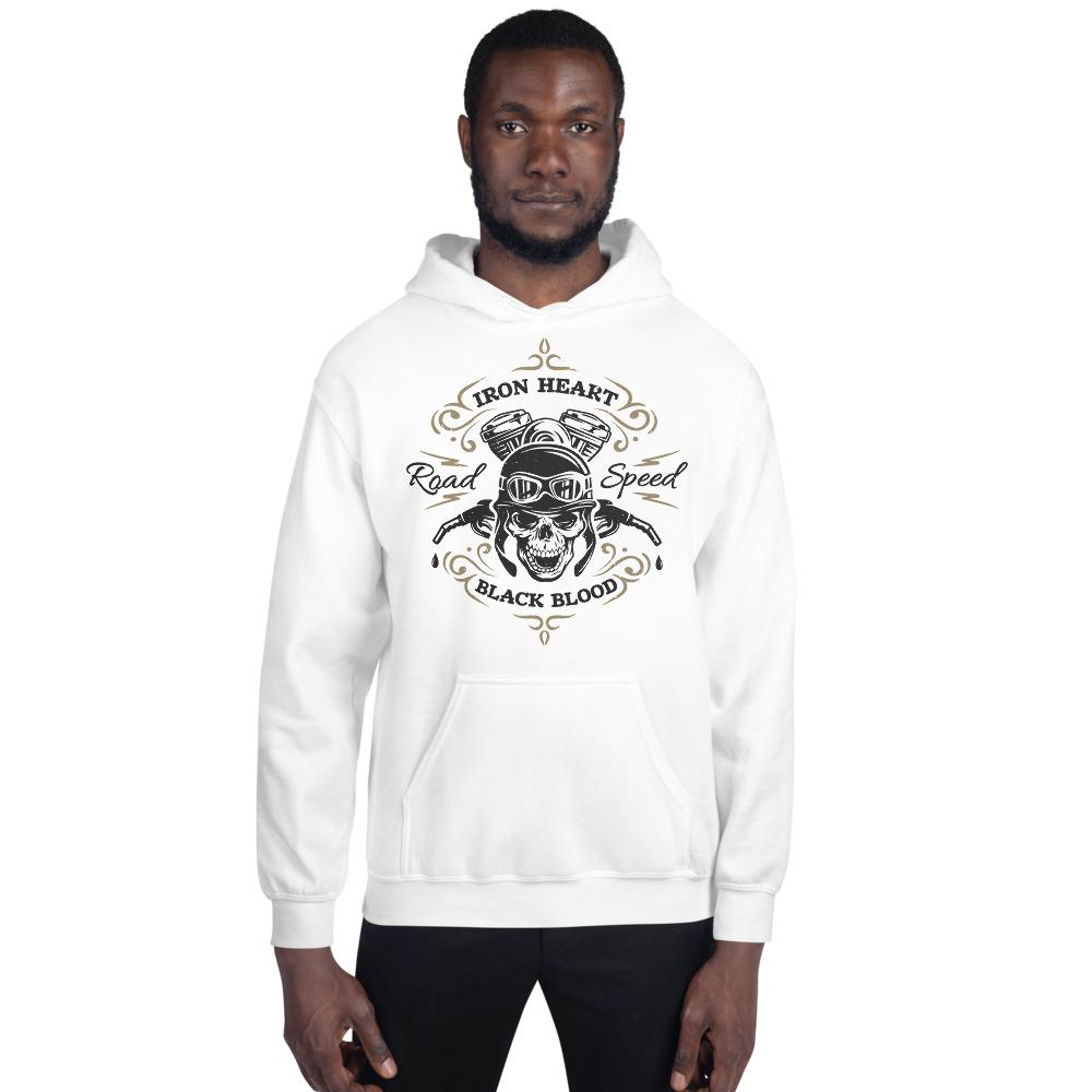 Iron Heart Black Blood Hoodie The Skullection White S