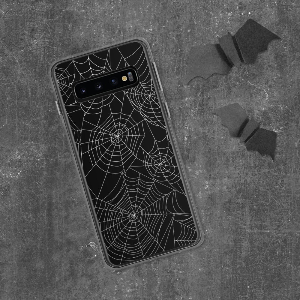 Spider Webs On Black Samsung Case