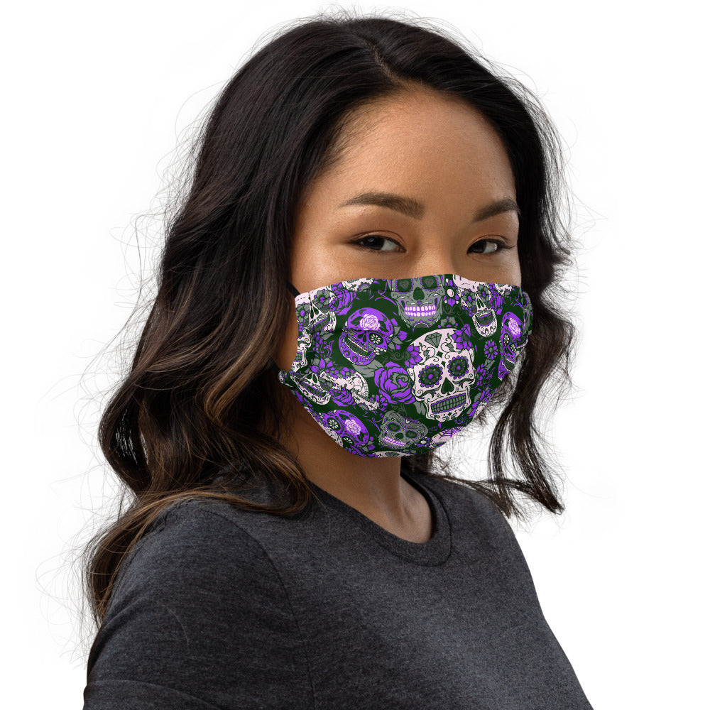 Purple Sugar Skull Face mask