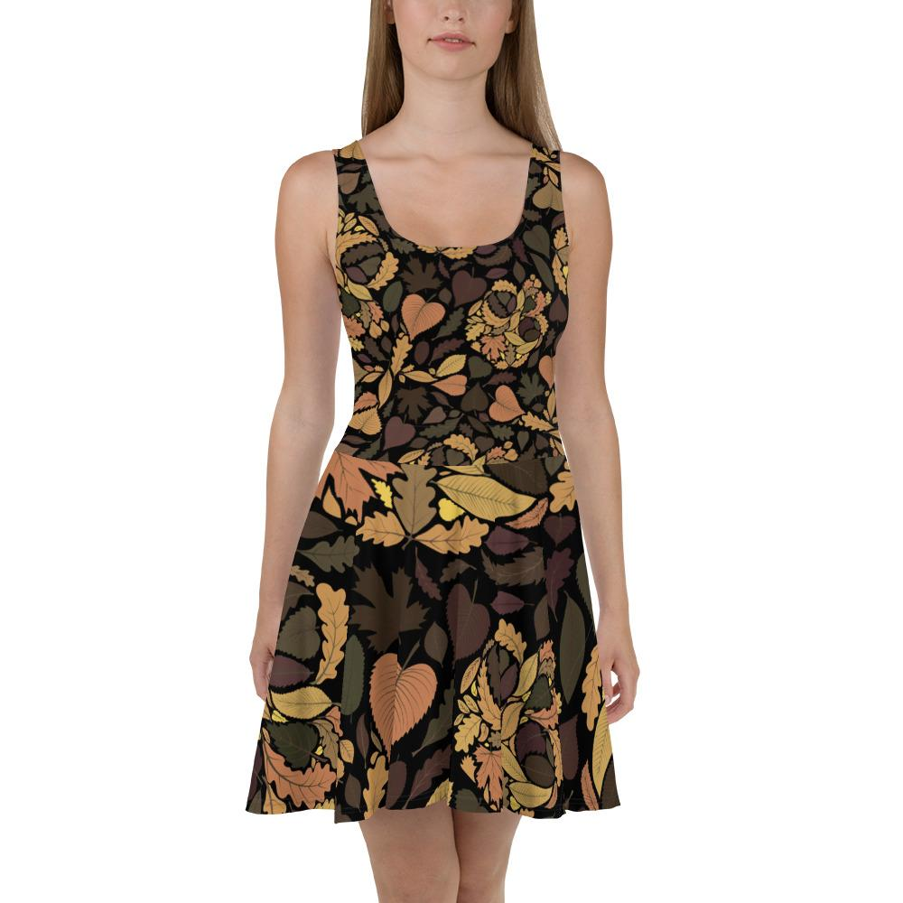 Autumn With Skulls Is Comming Skater Dress The Skullection XS