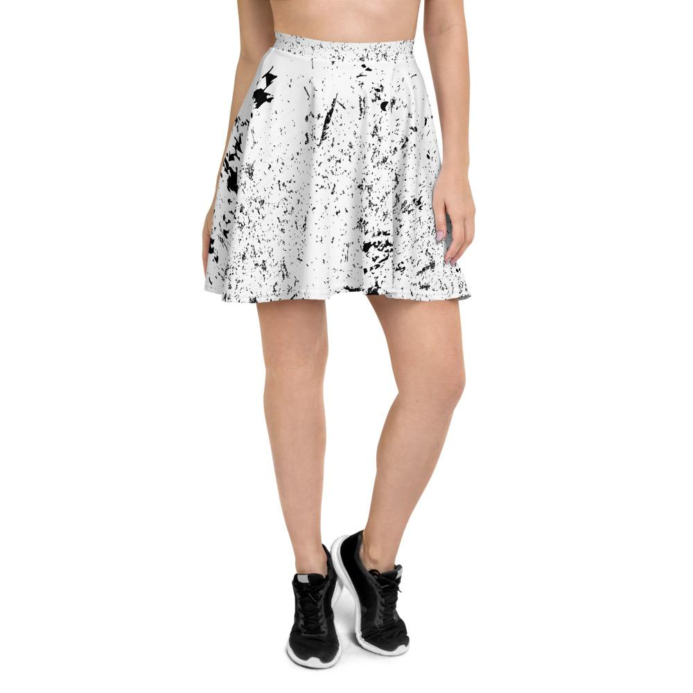 Grunge Texture Skater Skirt The Skullection XS