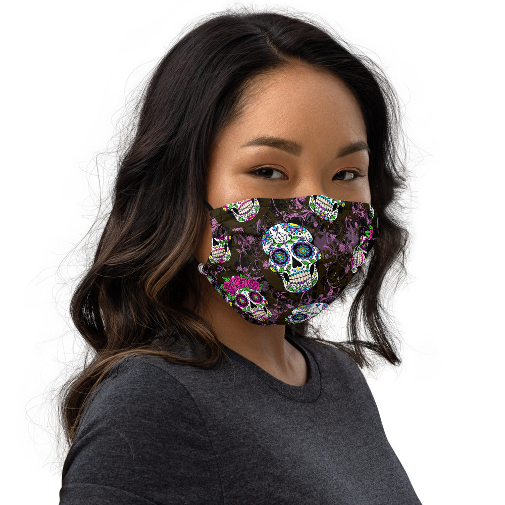 Violet Sugar Skulls Face mask