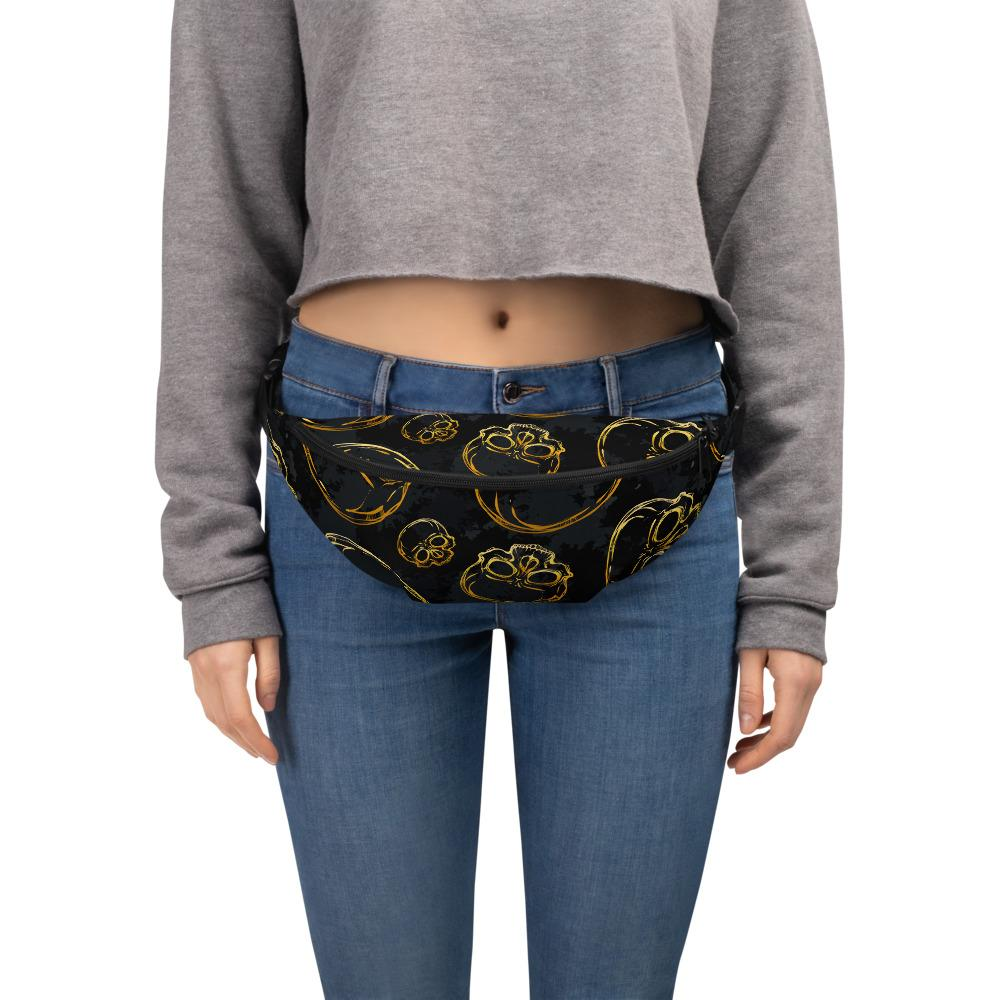 Golden Skulls 2 Fanny Pack The Skullection S/M