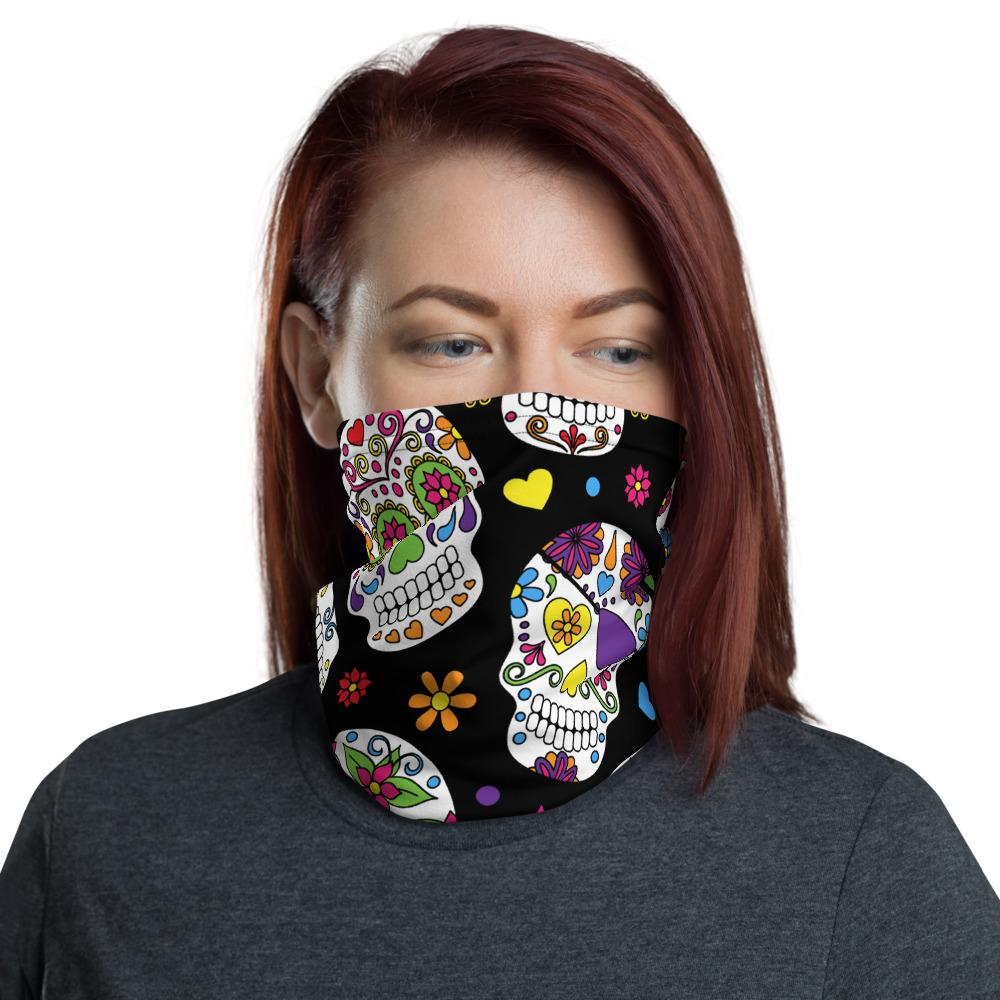 Sugar Skulls All Over The Place Neck Gaiter The Skullection