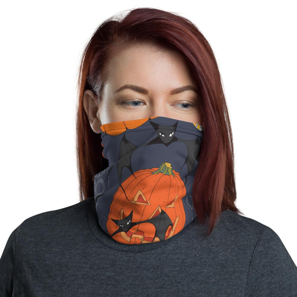 Sugar Skulls With Spiders Bat Halloween Day Neck Gaiter The Skullection