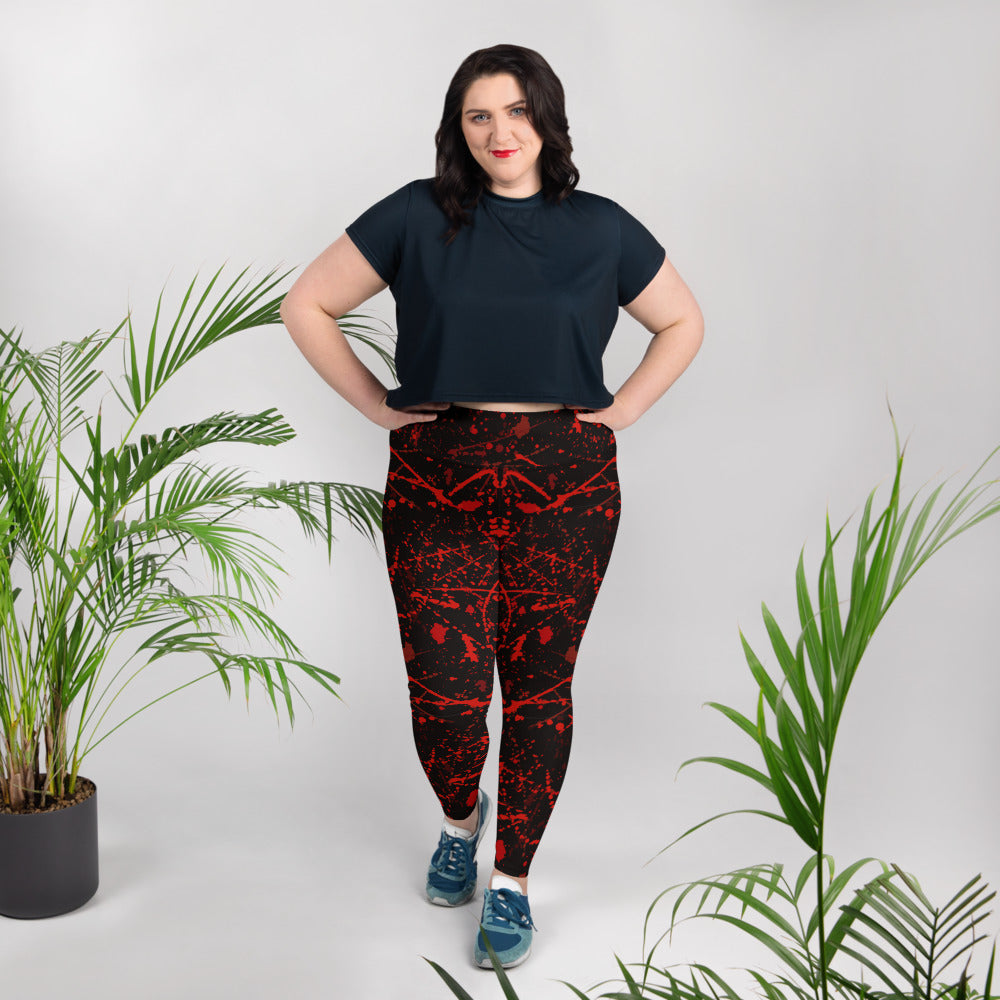 Blood Stains Halloween Plus Size Leggings