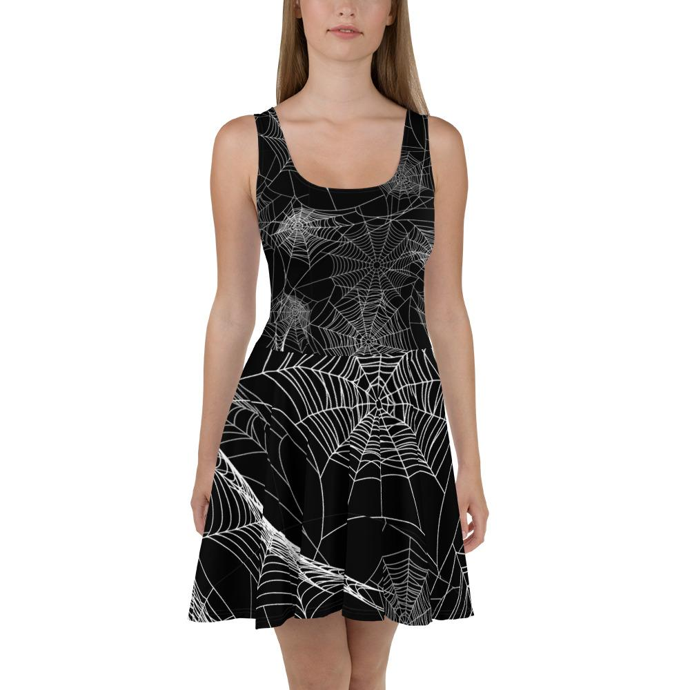 Spider Web Skater Dress The Skullection XS