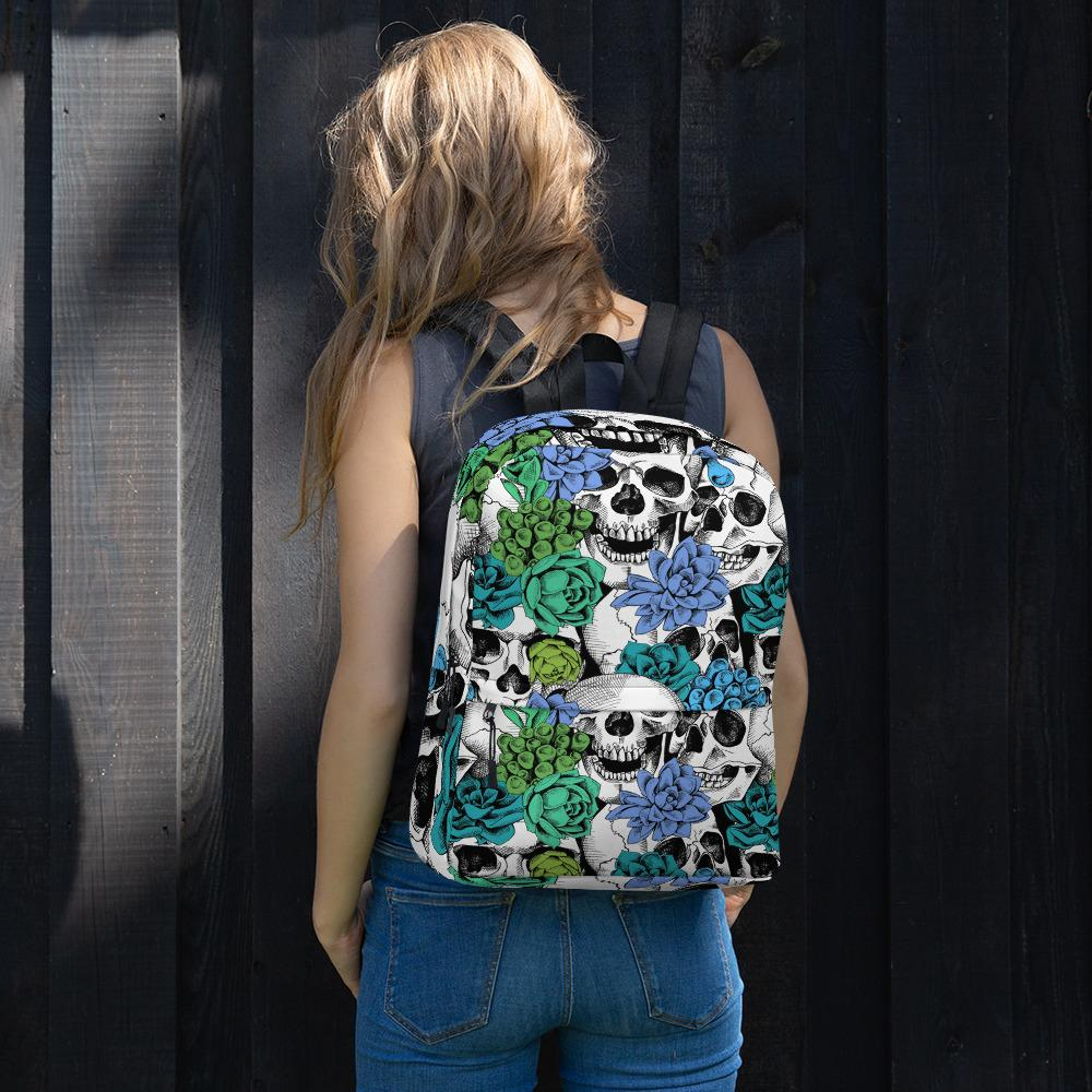 Skull And Succulent Plant Backpack The Skullection