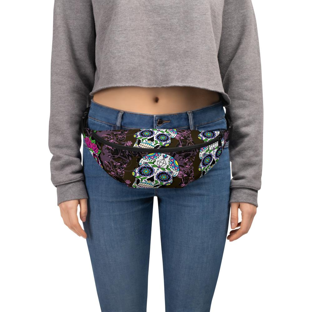 Violet Sugar Skulls Fanny Pack The Skullection S/M
