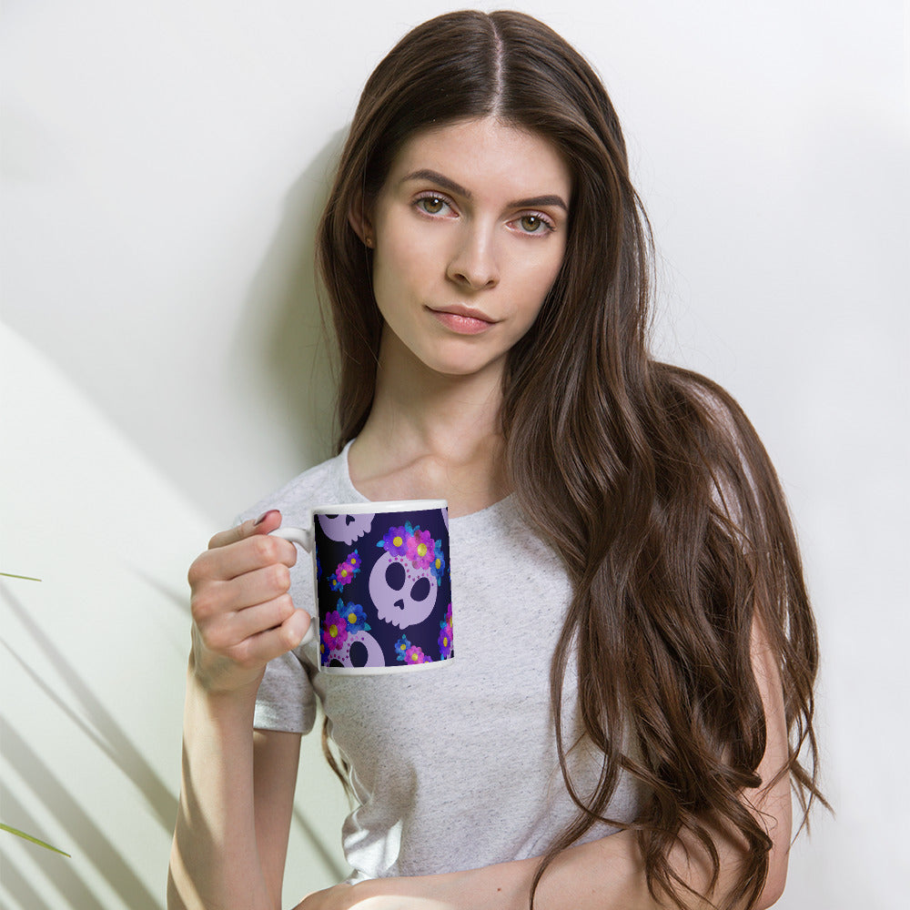 Frida Skulls With Flowers Mug