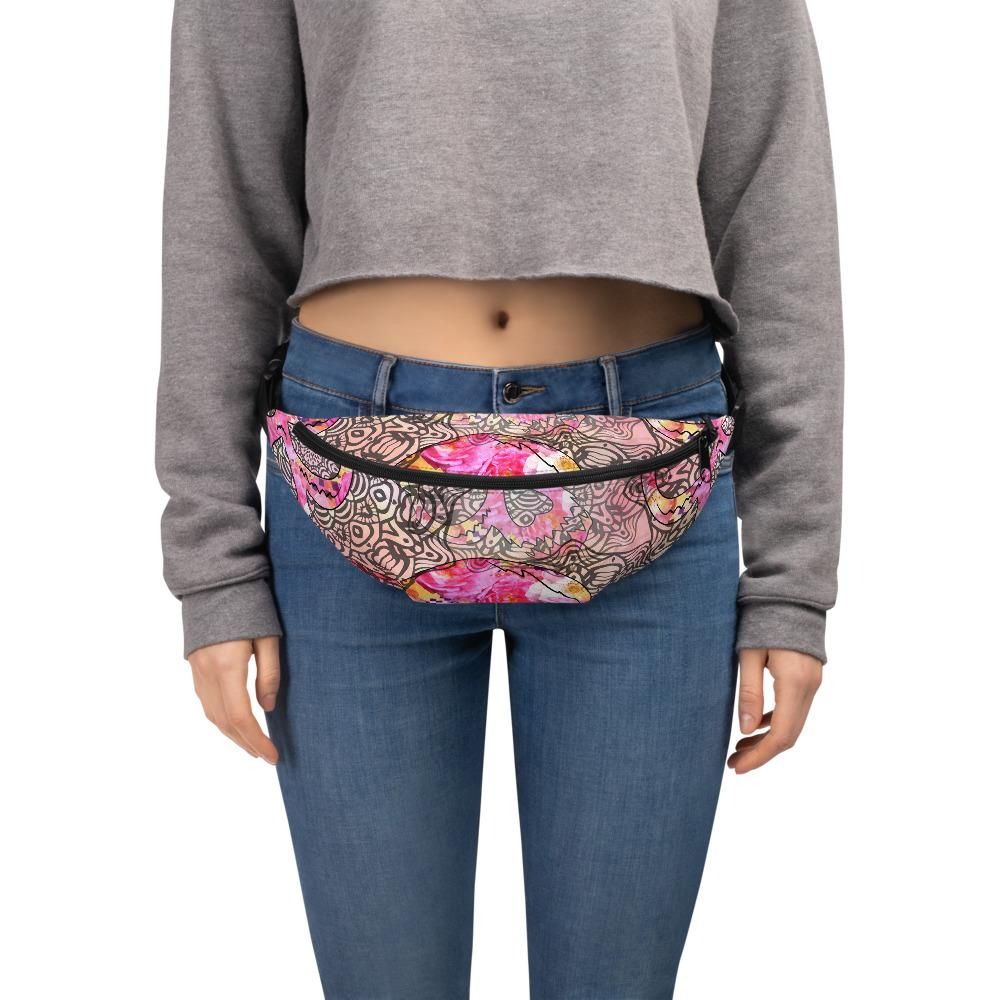 Skulls With Mandala Ornaments Fanny Pack The Skullection S/M