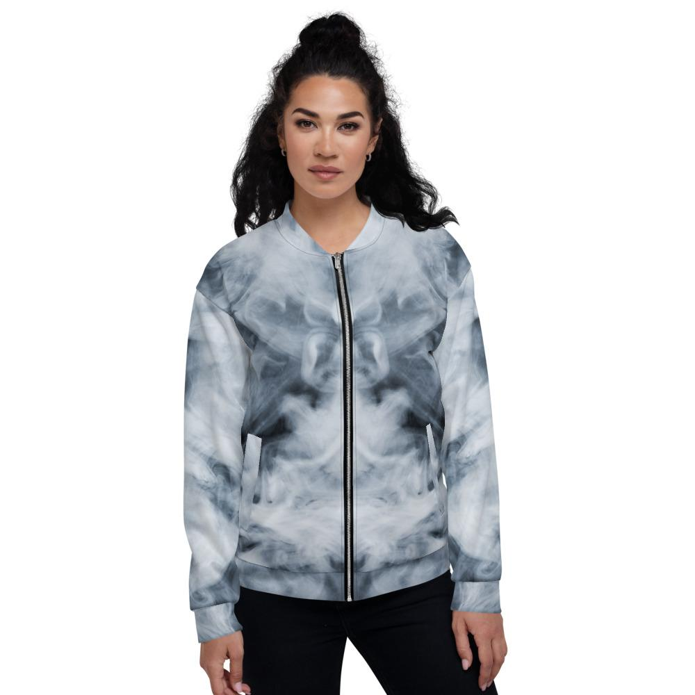 Dark Smoke Clouds Unisex Bomber Jacket The Skullection XS