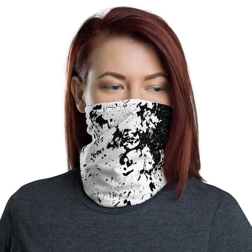 Grunge Texture Neck Gaiter The Skullection