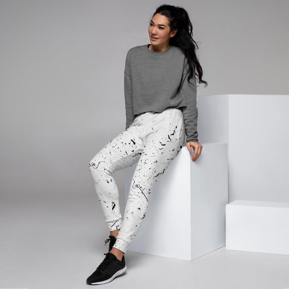 Grunge Lines And Dots Women's Joggers The Skullection XS