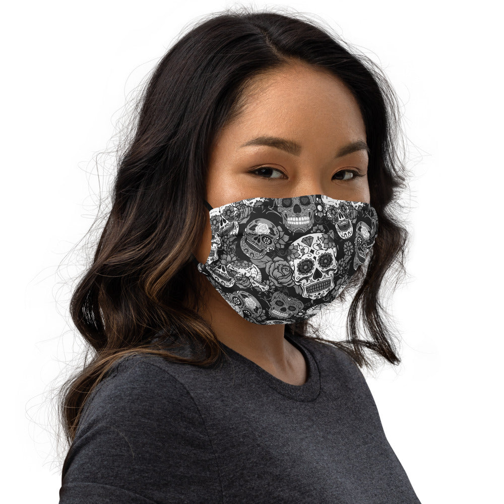 Gray Sugar Skull Face mask