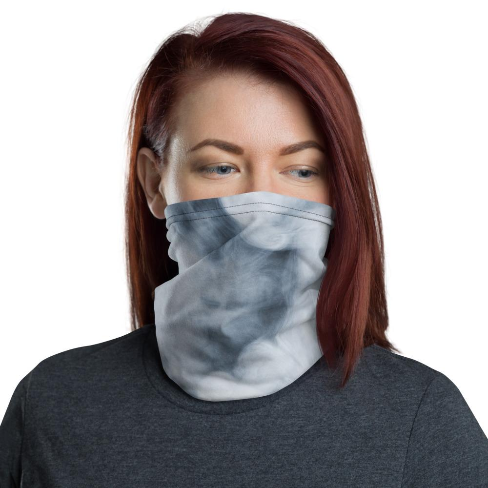 Dark Smoke Clouds Neck Gaiter The Skullection