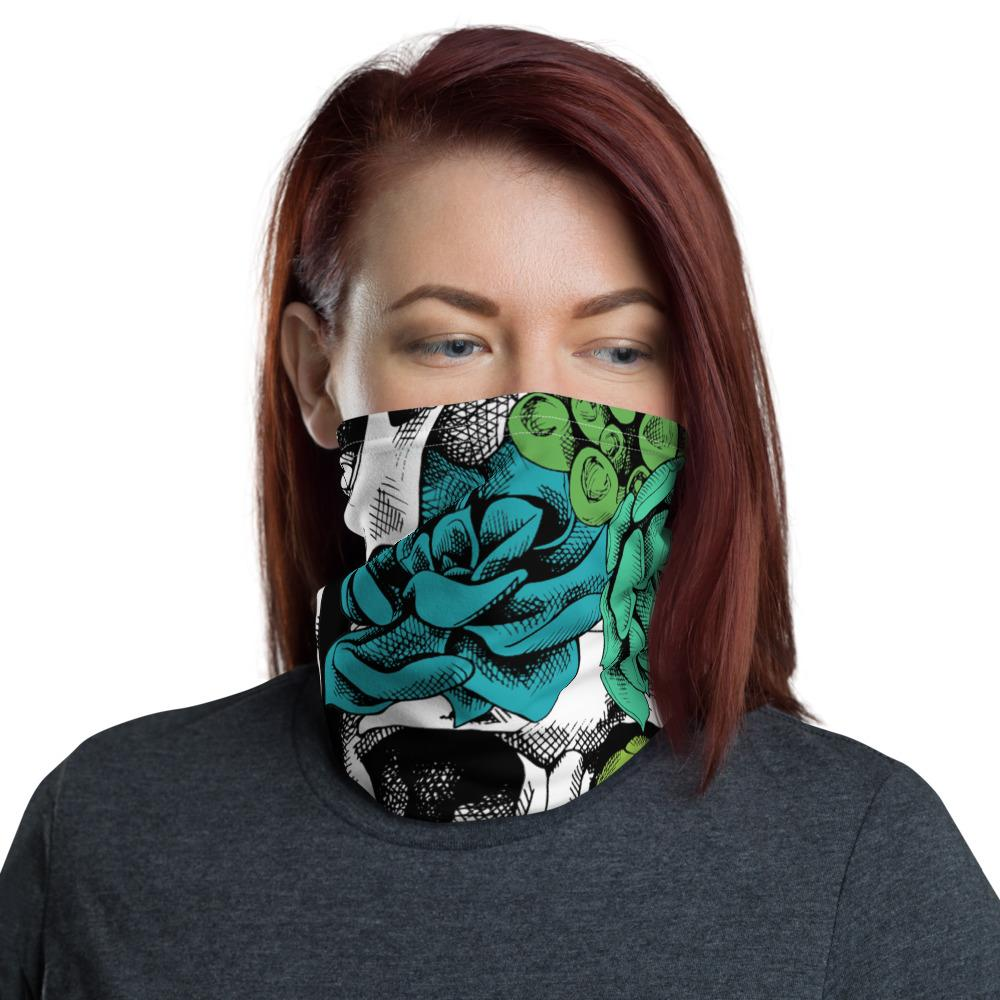 Skull And Succulent Plant Neck Gaiter The Skullection