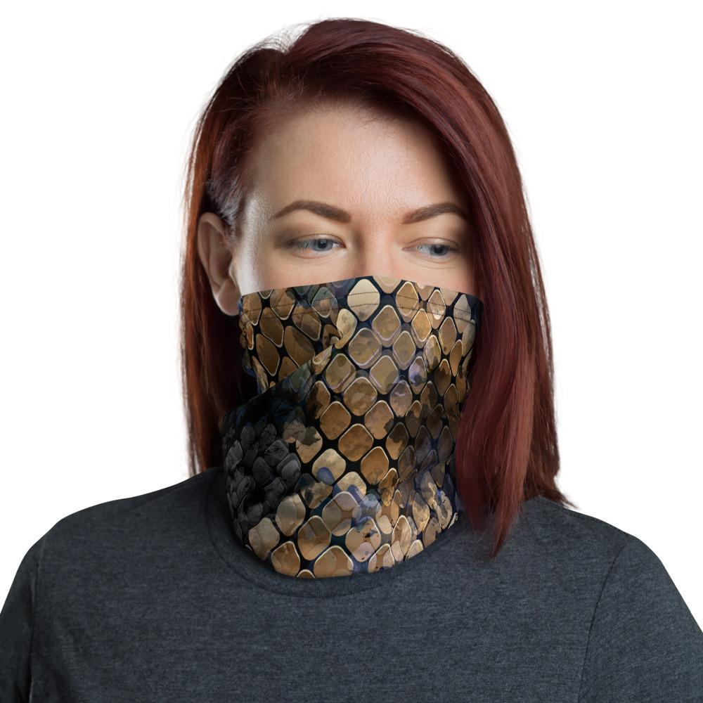 Cobra Snake Skin Neck Gaiter The Skullection