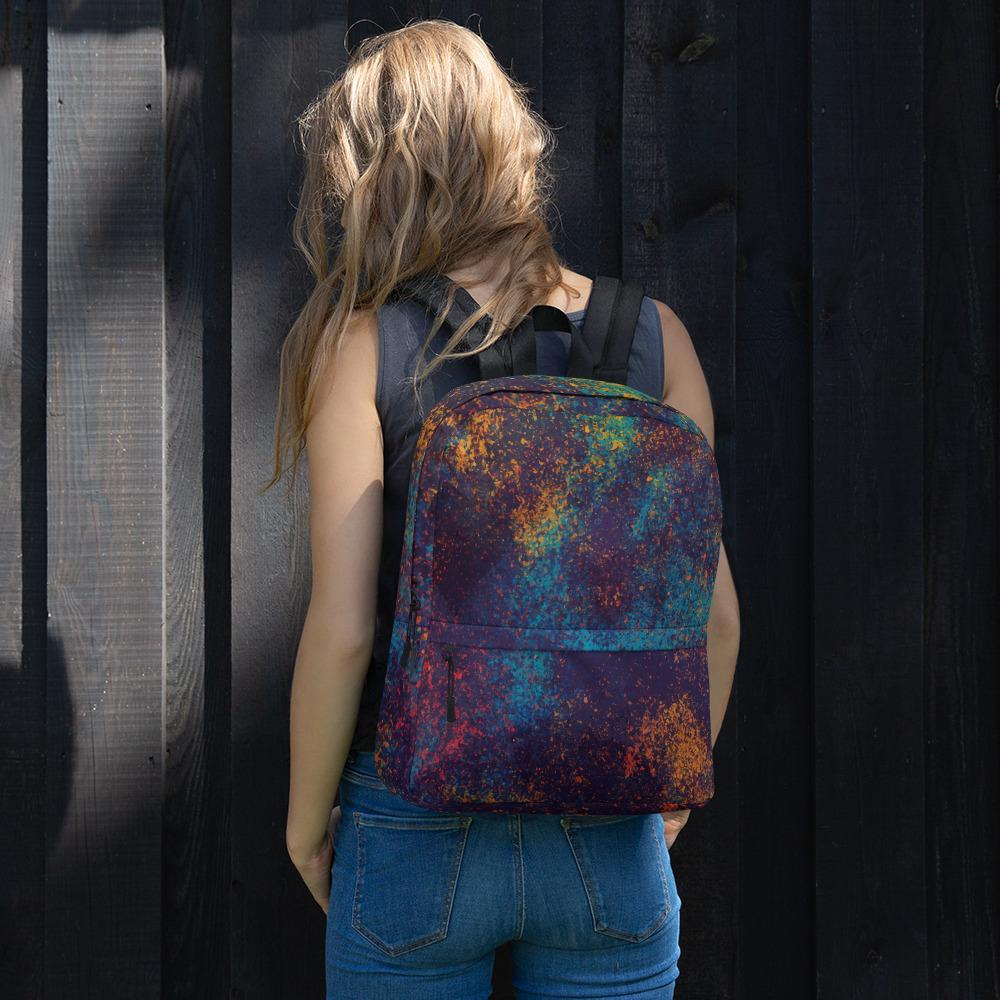 Colorful Grunge Spots Backpack The Skullection