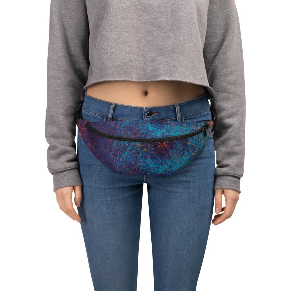Colorful Grunge Spots Fanny Pack The Skullection S/M