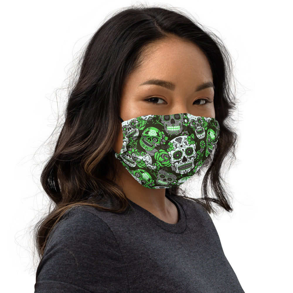 Green Sugar Skull Face mask