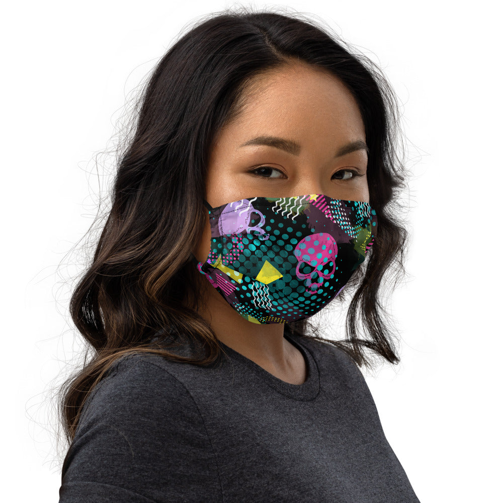 Cute Memphis Skulls Face mask