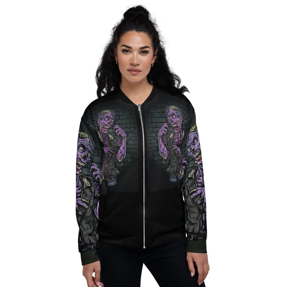 Walking Dead Zombie Unisex Bomber Jacket The Skullection XS