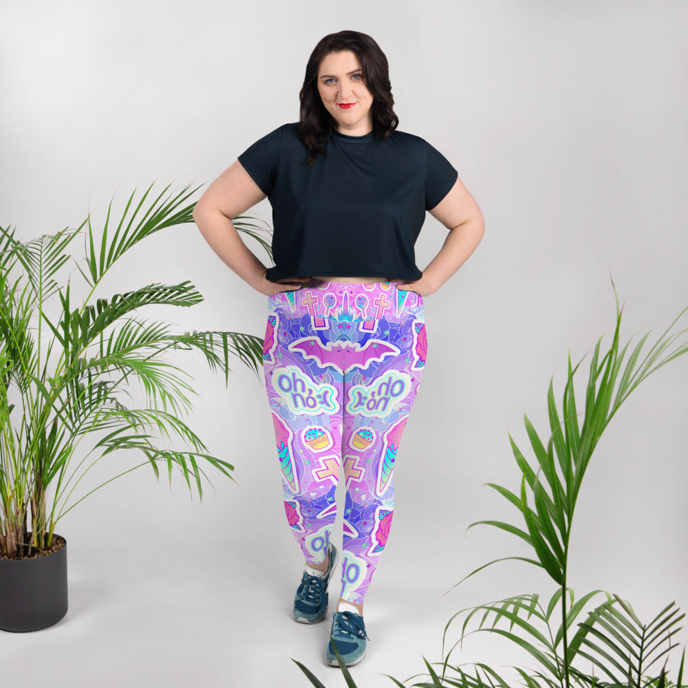 Pink Candies Sweets Lolipops All-Over Print Plus Size Leggings