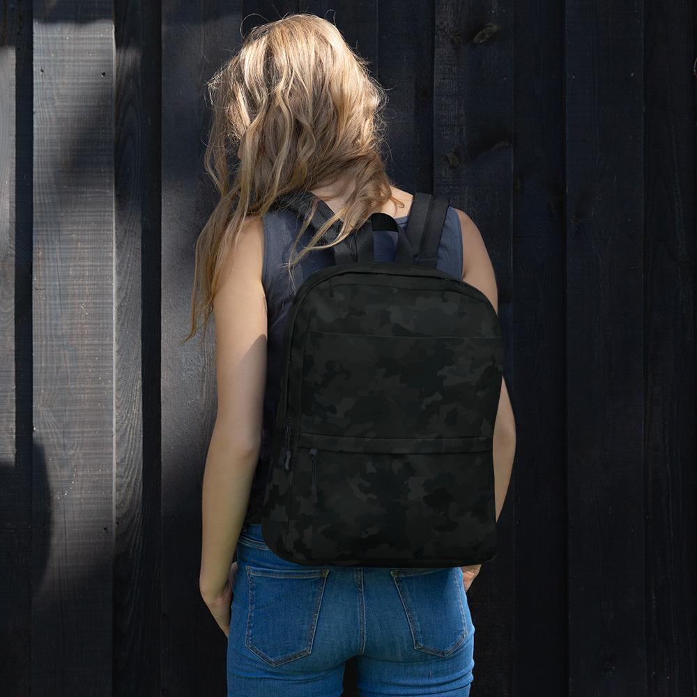 Black Camo Backpack The Skullection