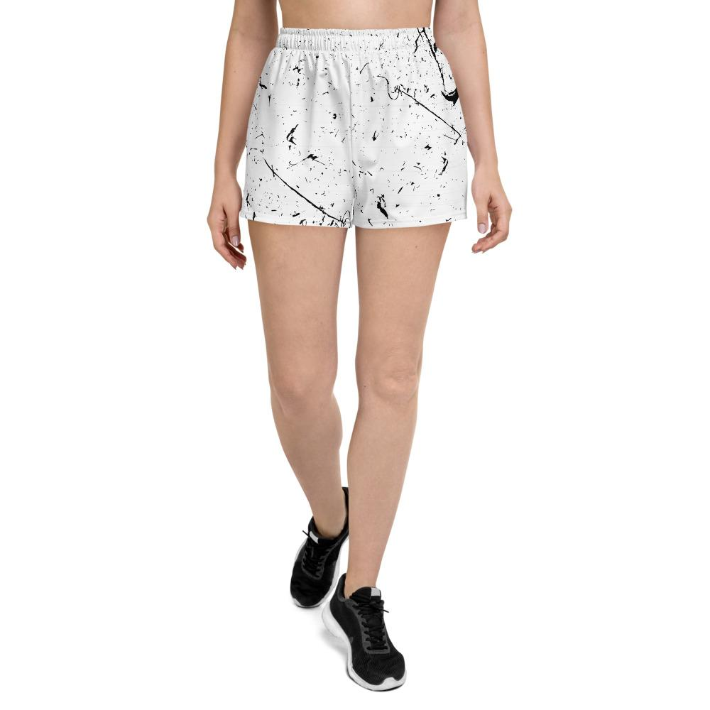Grunge Lines And Dots Women's Athletic Short Shorts The Skullection XS