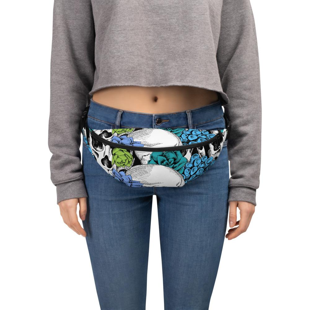 Skull And Succulent Plant Fanny Pack The Skullection S/M