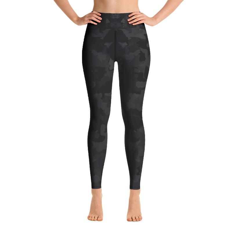 Black Camo Yoga Leggings The Skullection